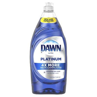 Dawn Ultra Platinum Refreshing Rain Scented Dishwashing Liquid - 34 fl oz