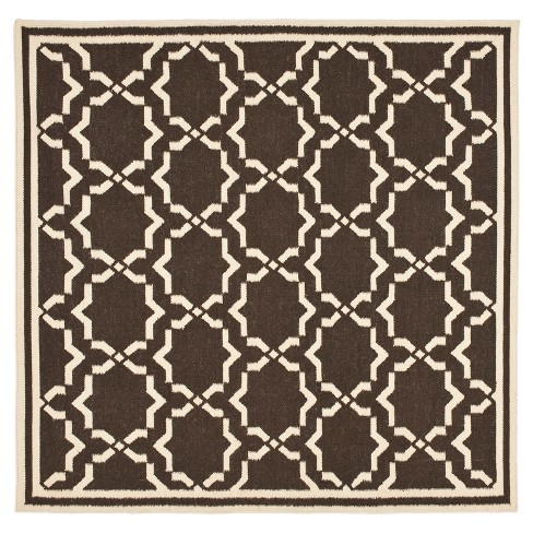 Casablanca Dhurry Rug - Chocolate/Ivory - (8'x8' Square) - Safavieh - image 1 of 1