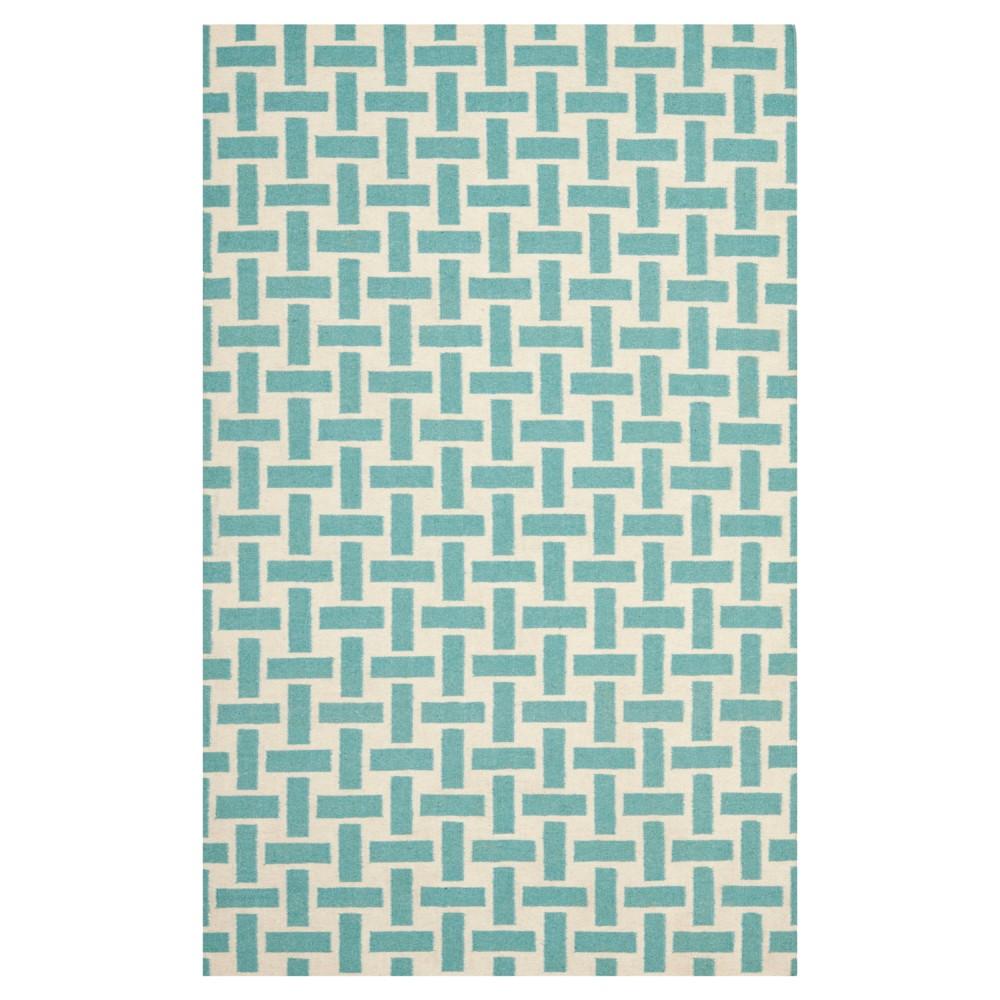 Fleming Area Rug - Turquoise / Ivory (4' X 6') - Safavieh
