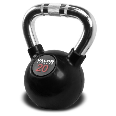 Valor Fitness CKB-20 Chrome Kettlebell - 20lb