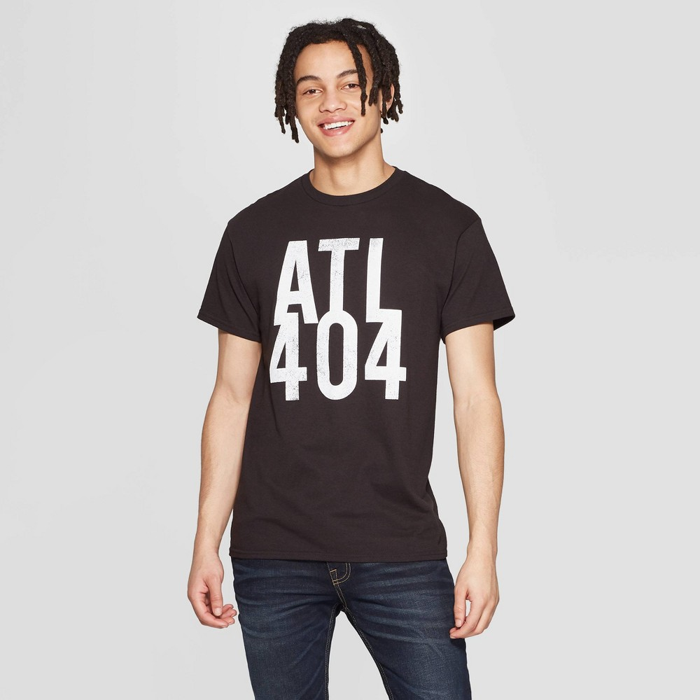 Men's Short Sleeve Crewneck Atlanta 404 Graphic T-Shirt - Modern Lux Black L