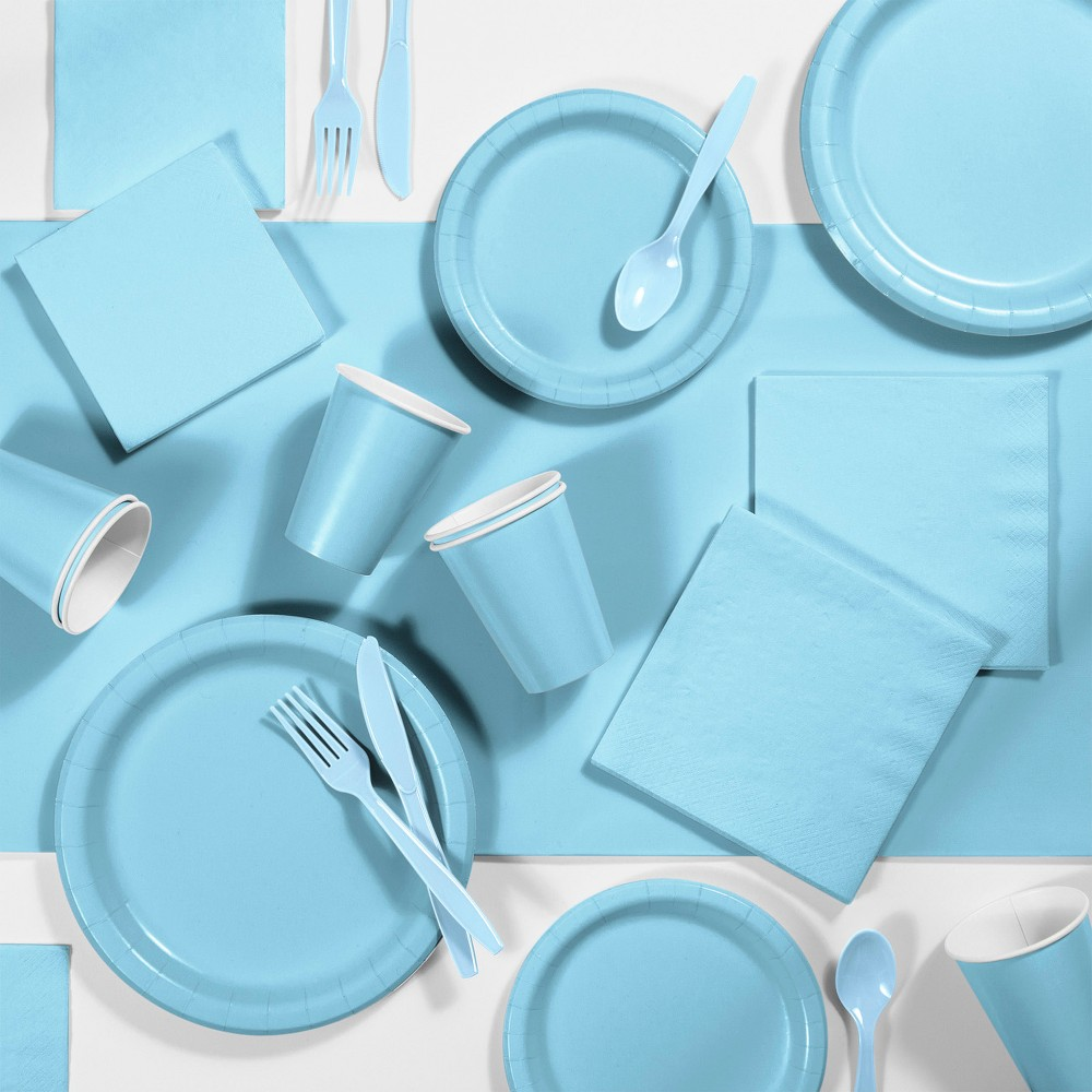 245pk Party Supplies Kit Pastel Blue Price