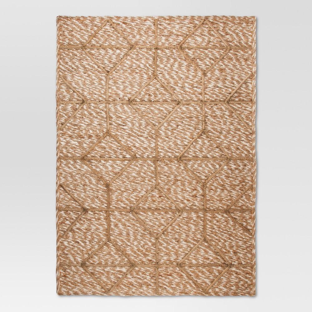 5'x7' Jute Braided Flatweave Area Rug - Tan - Threshold was $179.99 now $89.99 (50.0% off)