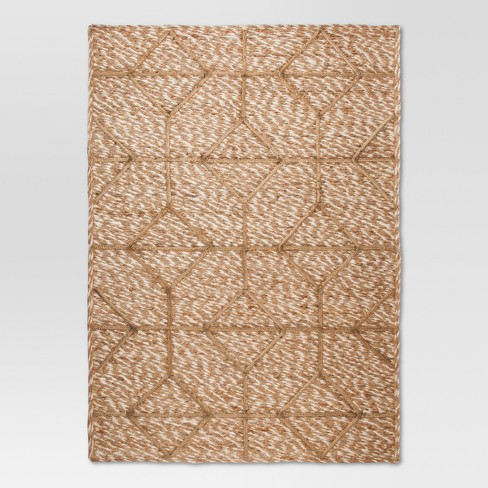 Jute Braided Flatweave Area Rug 5'x7' - Tan - Threshold™ - image 1 of 2