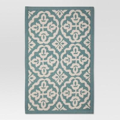 Aqua Floral rugs (1'8 x2'10 )- Threshold™