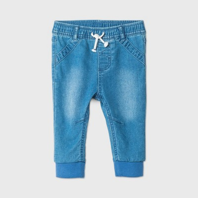 Baby Boys' Long Denim Jeans - Cat & Jack™ Light Wash 0-3M
