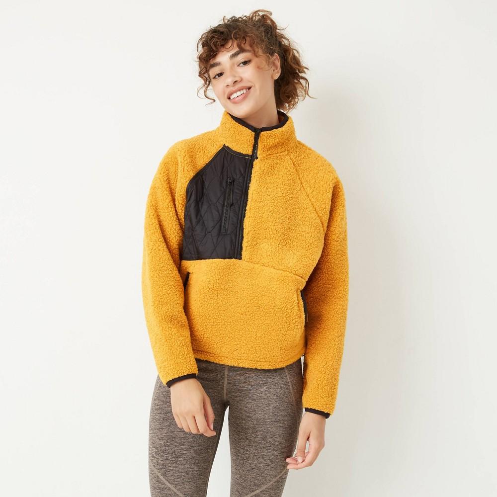 Best Woen's 1/2 Zip Sherpa Pullover Sweatshirt - JoyLab™