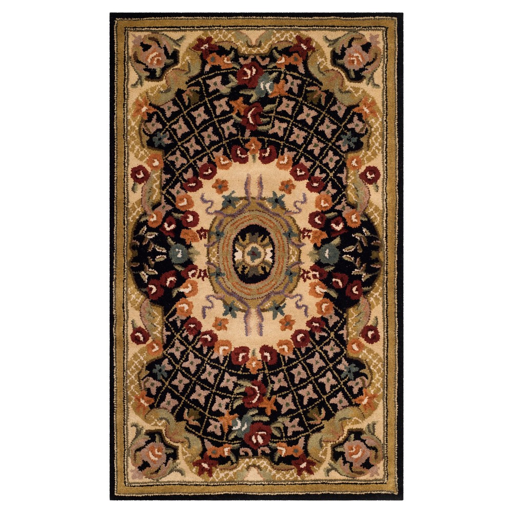 Black/Gold Abstract Tufted Accent Rug - (3'X5') - Safavieh