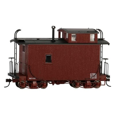 Bachmann Trains 26566 Offset Cupola Caboose 18 Foot Replica On30 Narrow Gauge 1:48 Scale Oxide Red Model Train with EZ Mate Couplers