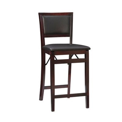 "25"" Torrin Folding Counter Height Barstool Espresso - Linon"
