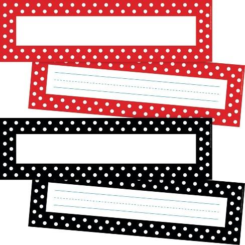 Barker Creek 72pc 2 Designs Dots Name Plate per Bulletin Board Sign Set - image 1 of 4