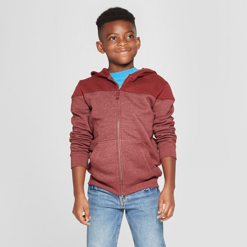 Boys' Colorblock Hooded Long Sleeve Sweatshirt - Cat & Jack™ - image 1 of 3