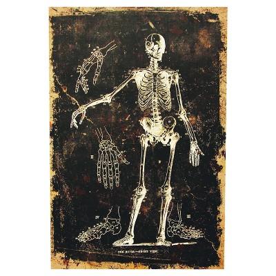 24  Halloween Skeleton Canvas
