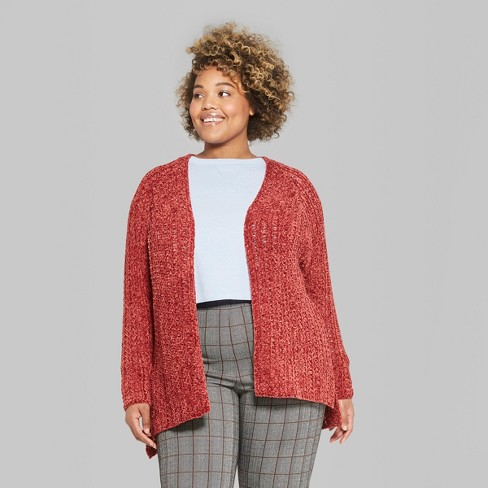 83628c01795a Women s Plus Size Long Sleeve Chenille Open Cardigan - Wild Fable™   Target