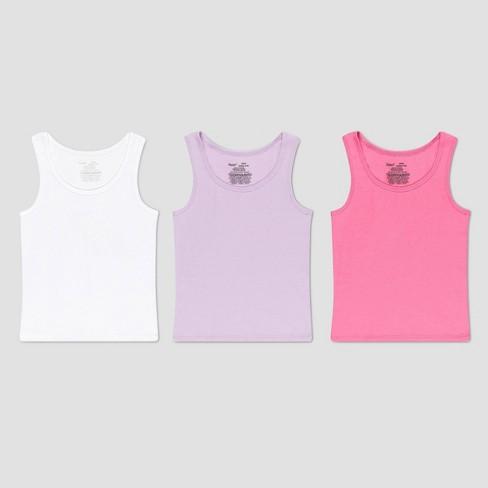 Hanes Premium Girls' 3pk Tank Camisole - Pink/White/Purple - image 1 of 2
