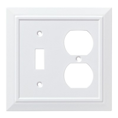 Franklin Brass Classic Architecture Switch/Duplex Wall Plate White