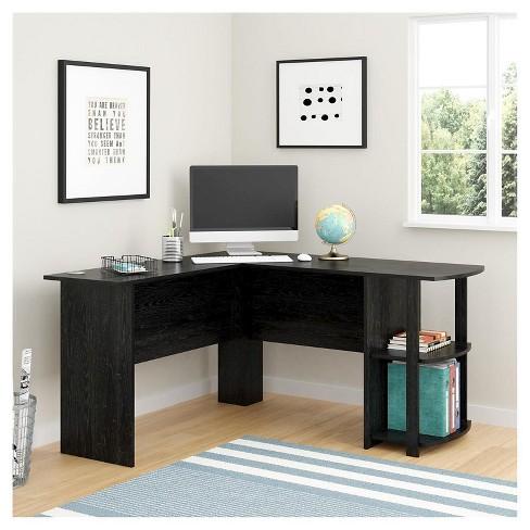 Fieldstone L Shaped Desk With Bookshelves