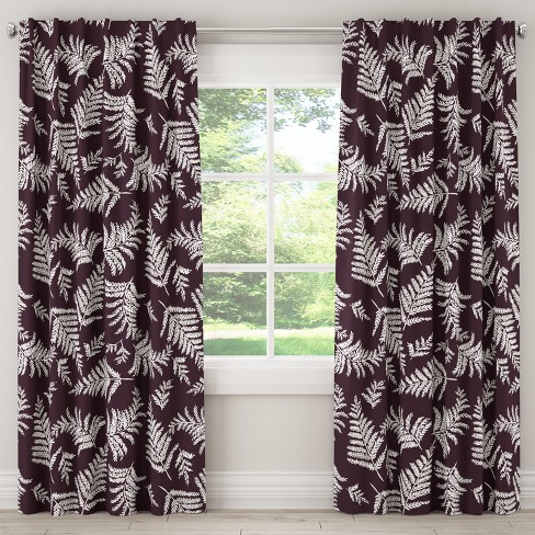 Unlined Curtain Fern Plum 63L - Cloth & Co. - image 1 of 5