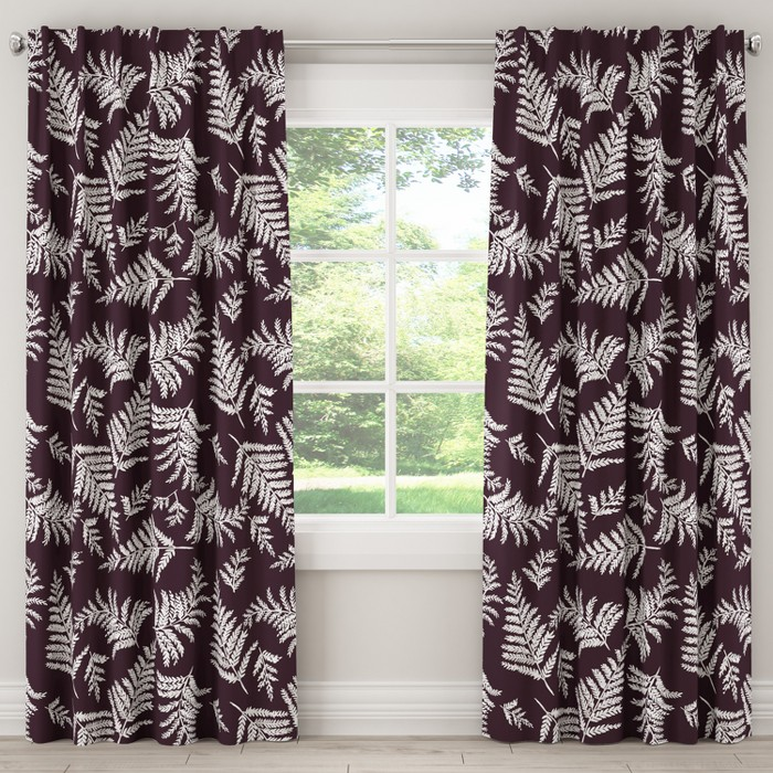 Unlined Curtain Fern Plum 120L - Cloth & Co. - image 1 of 5