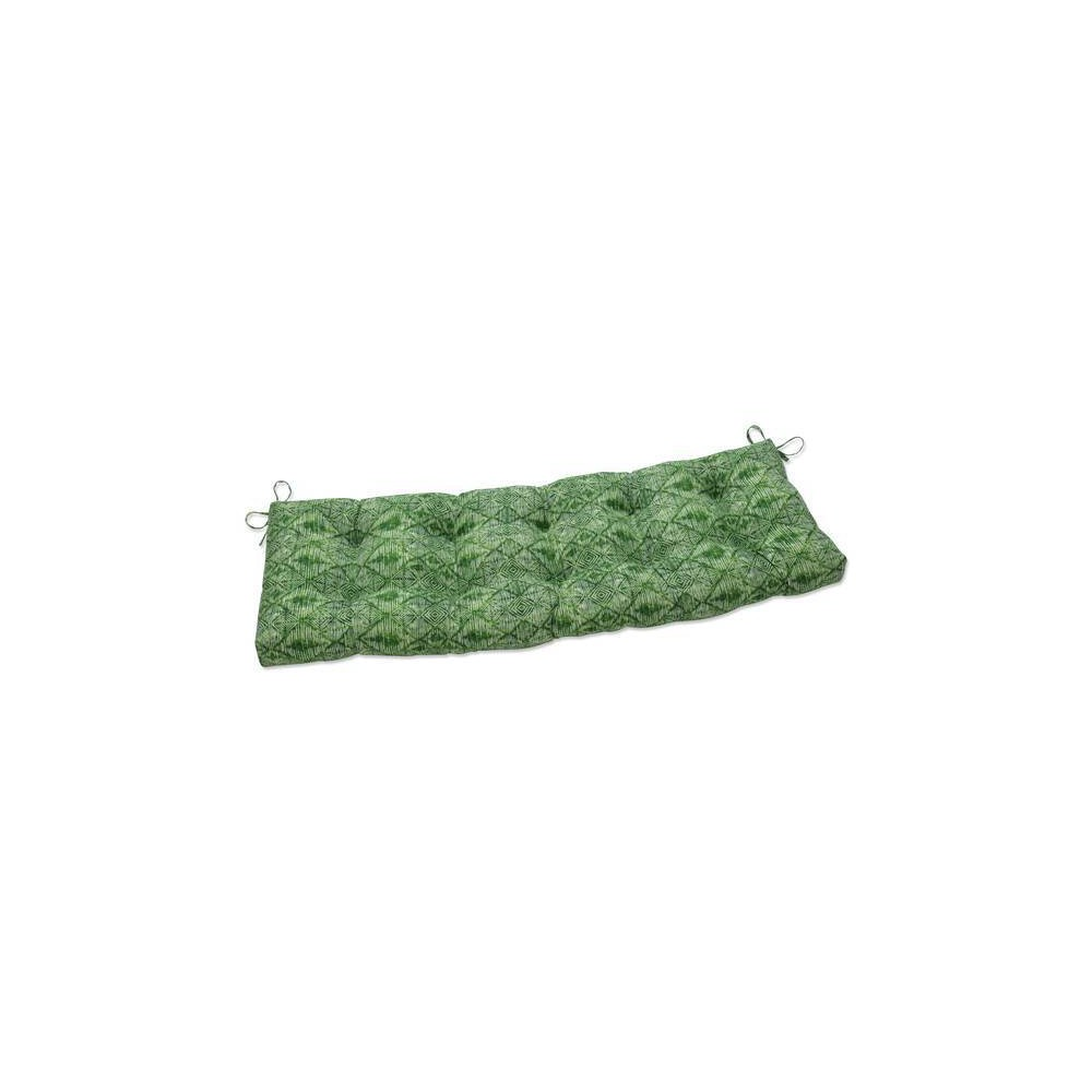 60 34 X 18 34 Outdoor Indoor Tufted Bench Swing Cushion Nesco Palm Green Pillow Perfect