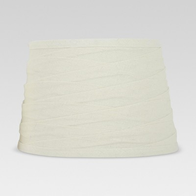 Linen Overlay Modified Drum Small Lamp Shade Ivory - Threshold™