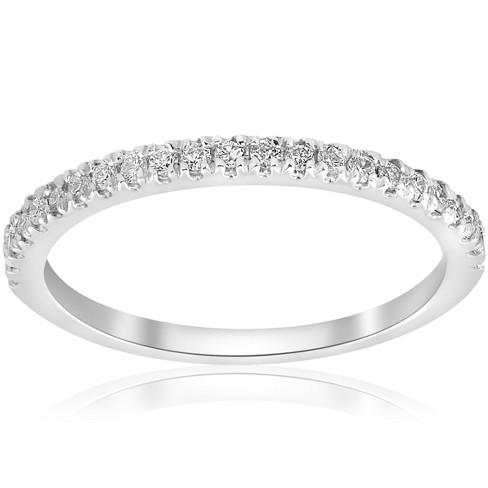 Pompeii3 1/5ct Diamond Wedding Band 10K White Gold - image 1 of 4