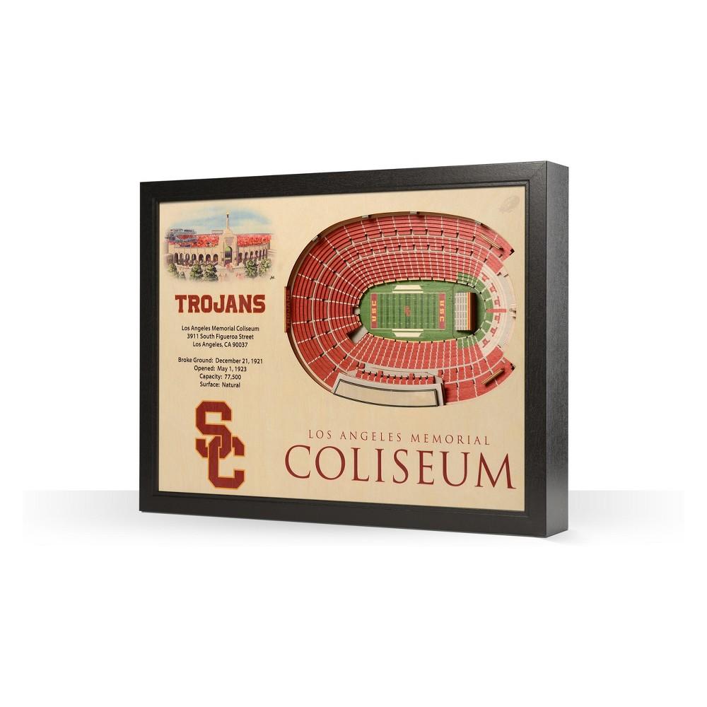 NCAA Usc Trojans 25 Layer Stadiumviews 3D Wall Art