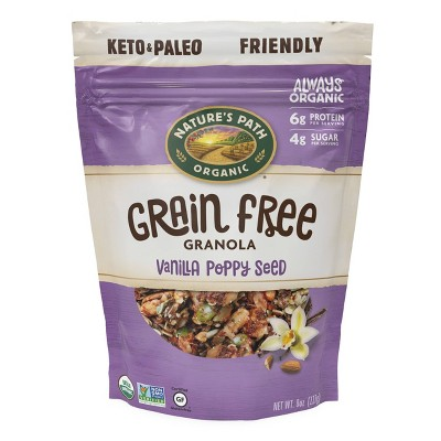 Nature's Path Grain Free Granola Vanilla Poppy Seed 8oz