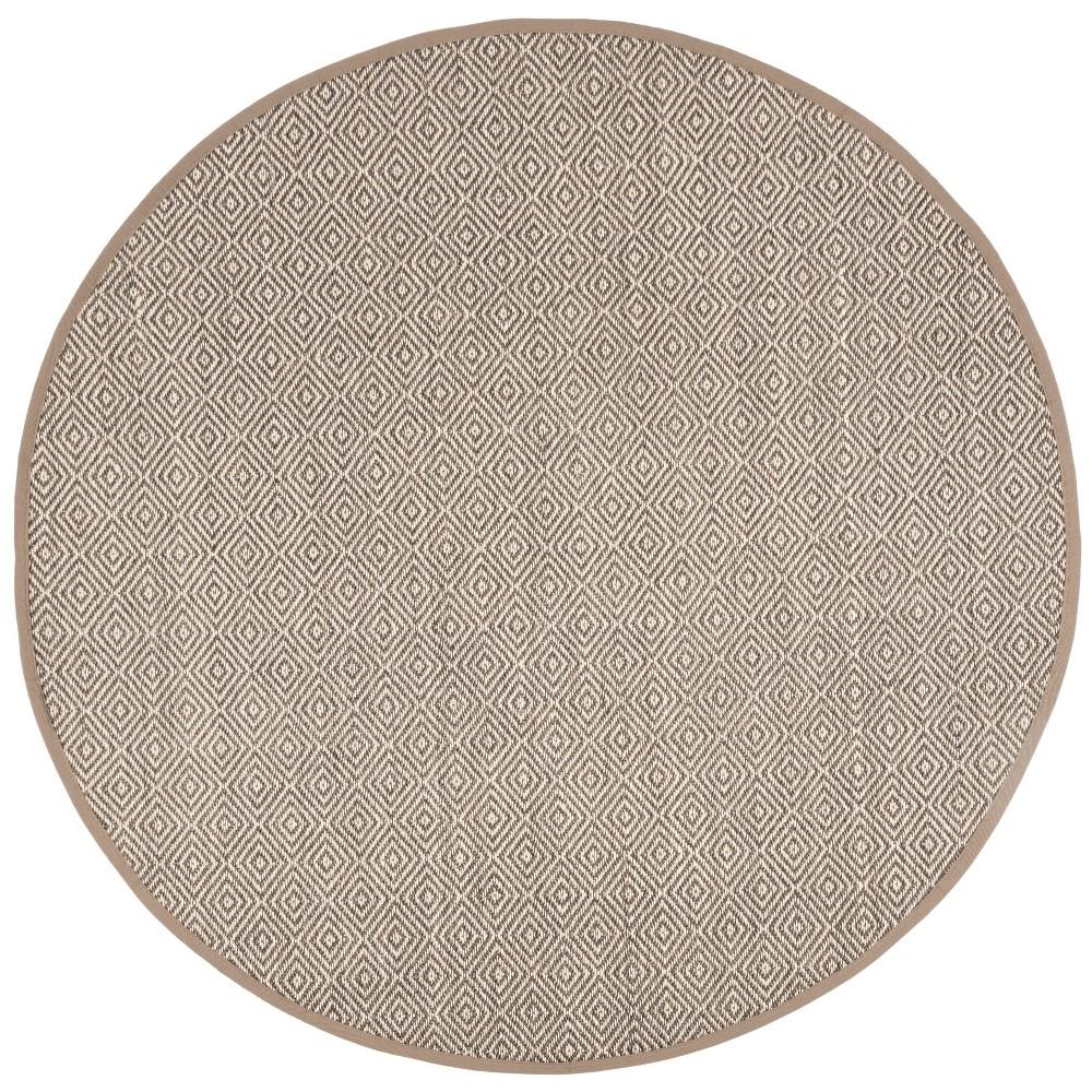 6 Geometric Loomed Round Area Rug Natural/Taupe - Safavieh Best