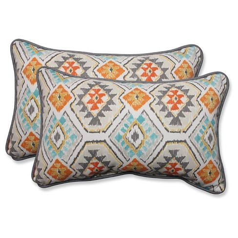 Pillow Perfect Eresha Oasis Outdoor Throw Pillow Set - Off White - image 1 of 1