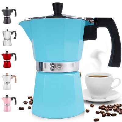Zulay Kitchen Classic Stovetop Espresso Maker for Great Flavored Strong Espresso, Classic Italian Style 5.5 Espresso Cup Moka Pot, Makes Delicious Coffee, Easy to Operate & Quick Cleanup Pot