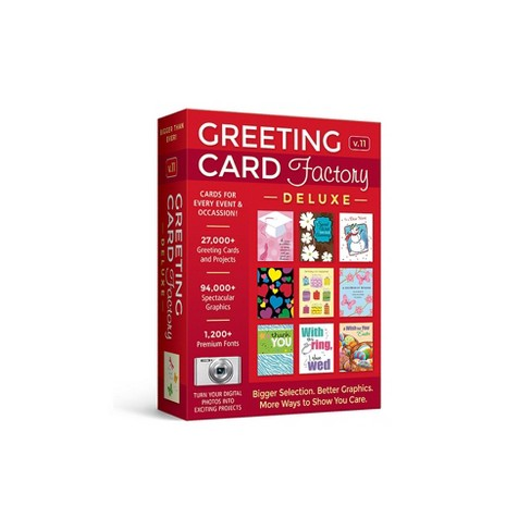 Avanquest Greeting Card Factory Deluxe 11 - PC - Email Delivery - image 1 of 1