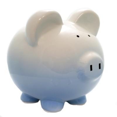 """Bank 7.75"""" Blue Ombre Piggy Bank Money Save  -  Decorative Banks"""