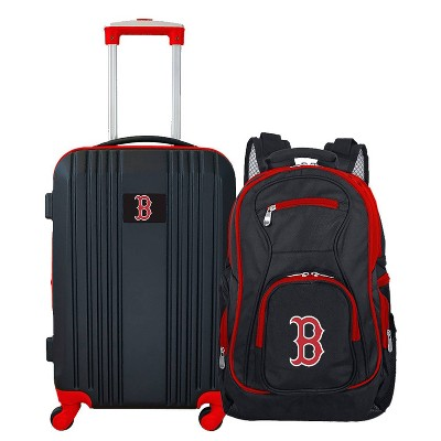 MLB Boston Red Sox 2 Pc Carry On Luggage Set
