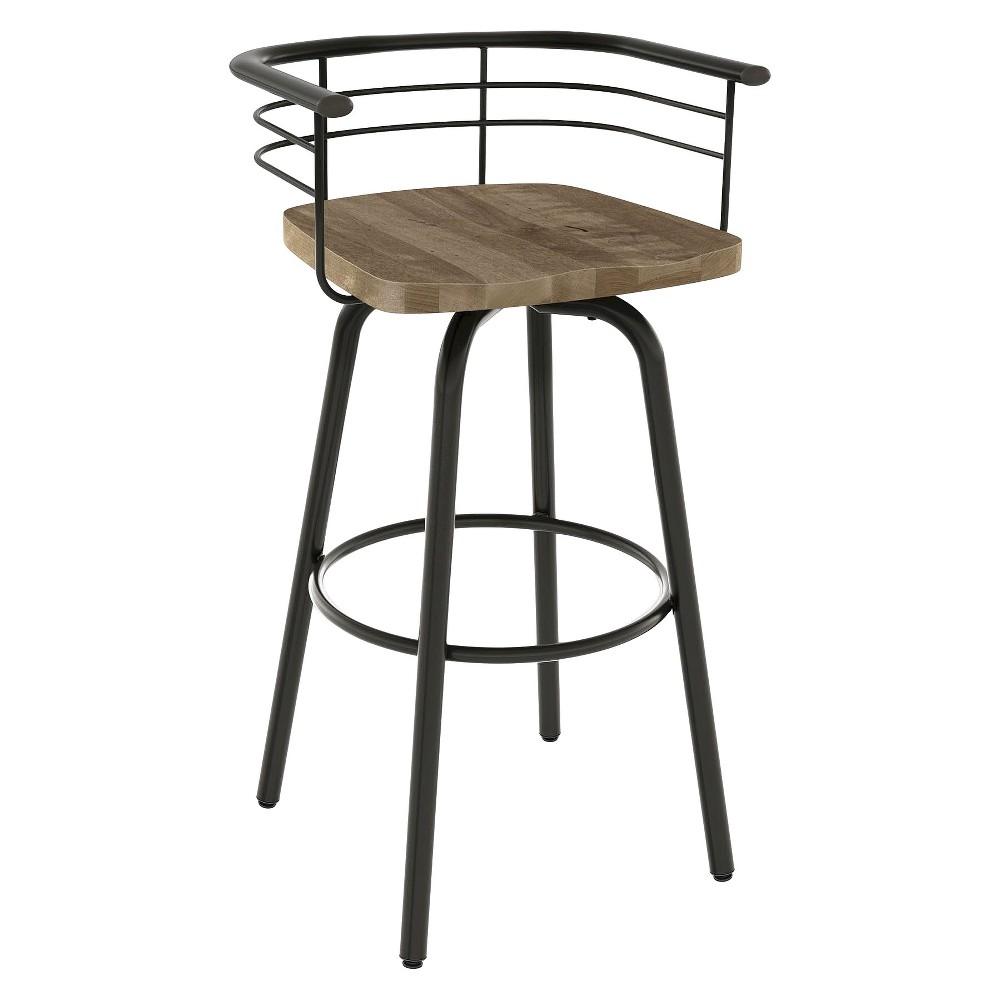 Brilliant 26 Brisk Swivel Counter Stool Blackbrown Amisco Beigegun Metal Creativecarmelina Interior Chair Design Creativecarmelinacom