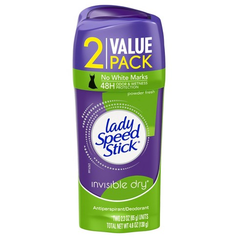 Lady Speed Stick Invisible Dry Antiperspirant Deodorant Powder Fresh - 2.3oz/2pk - image 1 of 3