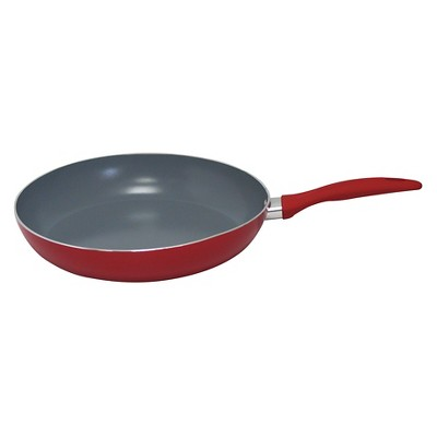 Gourmet Chef 8 Inch Eco Friendly Non Stick Ceramic Fry Pan - Red