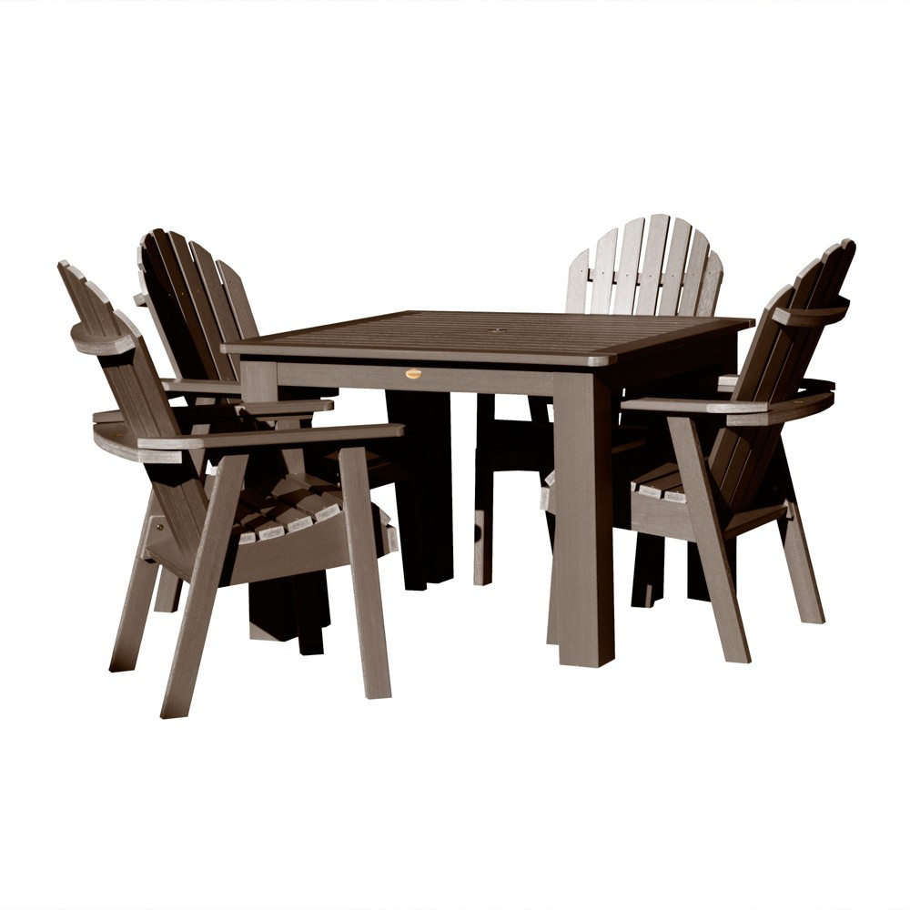 Hamilton 5pc Square Dining Set Weathered Acorn - Highwood