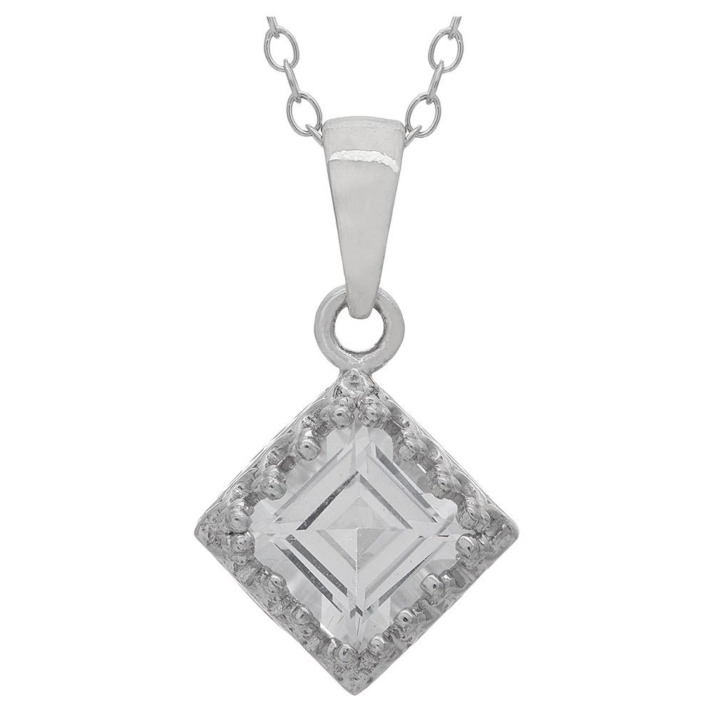 1 1/4 Tcw Tiara White Sapphire Crown Pendant in Sterling Silver