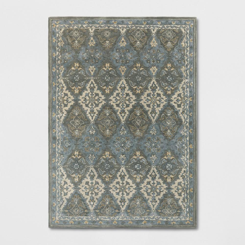7'X10' Tufted PersianArea Rugs Gray - Threshold