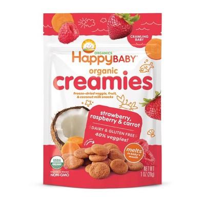 Happy Creamies Strawberry Raspberry & Carrot Freeze-Dried Snacks - 1oz