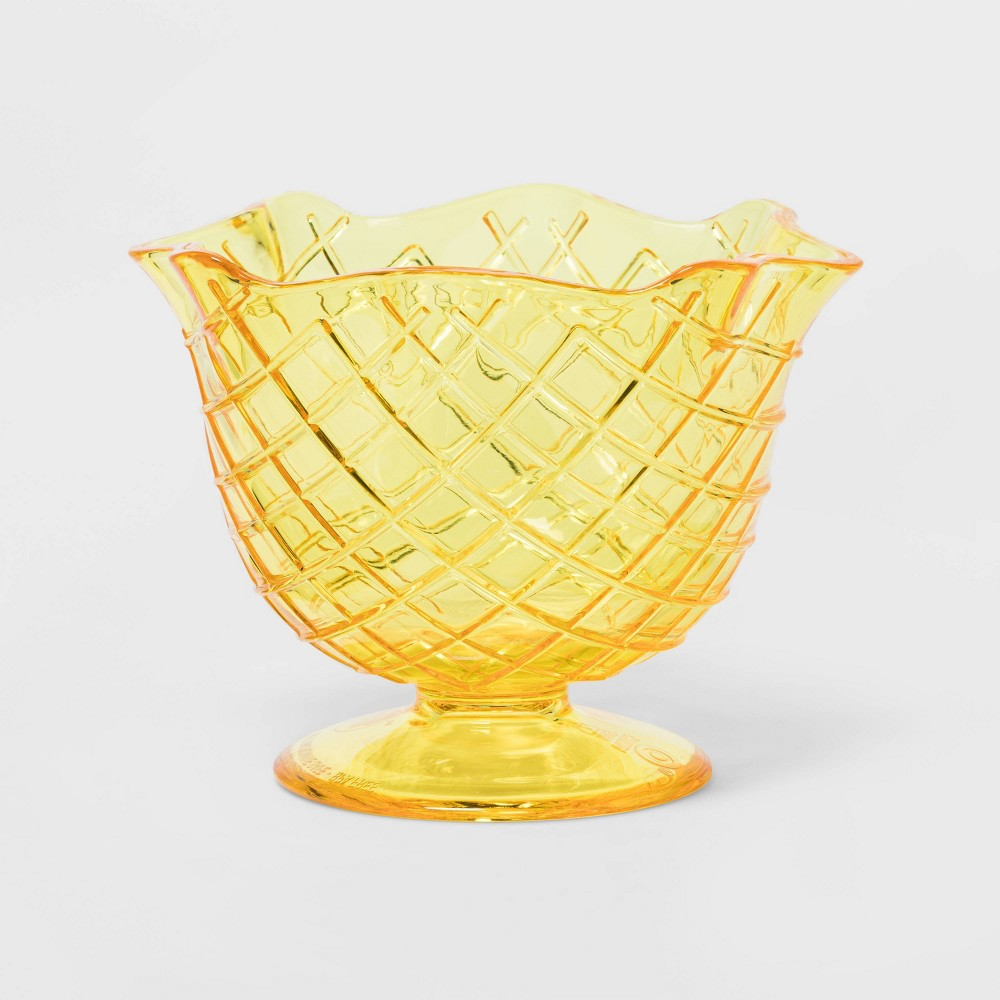Image of 13oz Plastic Sundae Bowl Yellow - Sun Squad
