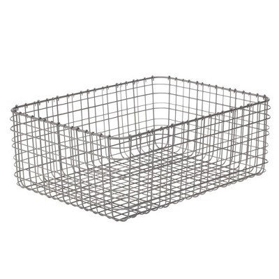 mDesign Metal Wire Food Organizer Storage Bins
