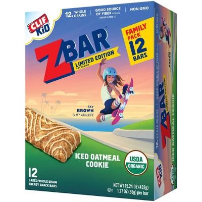 CLIF Kid ZBAR Organic Iced Oatmeal Cookie Snack Bars - 12ct/15.24oz