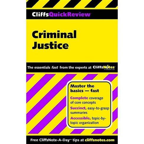 Cliffsquickreview Criminal Justice - (Cliffs Quick Review (Paperback)) by  Dennis Hoffman (Paperback) - image 1 of 1
