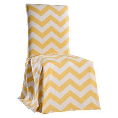 Beau Chevron Dining Chair Slipcover