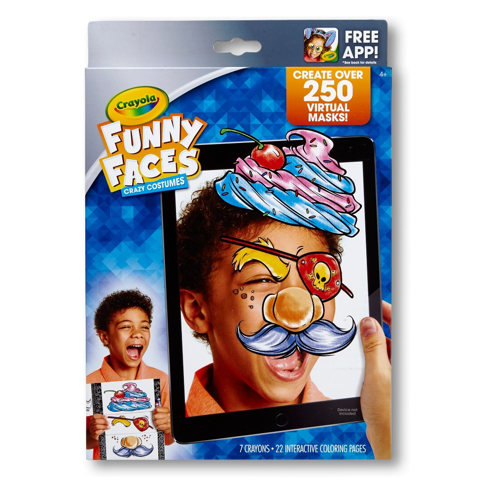 Crayola Funny Faces - Crazy Costumes, Multi-Colored