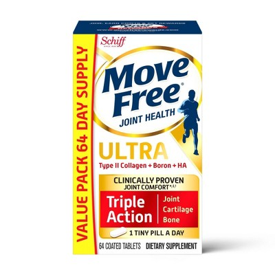 Move Free Ultra UCII Capsule Value Pack with Calcium and Collagen - 64ct