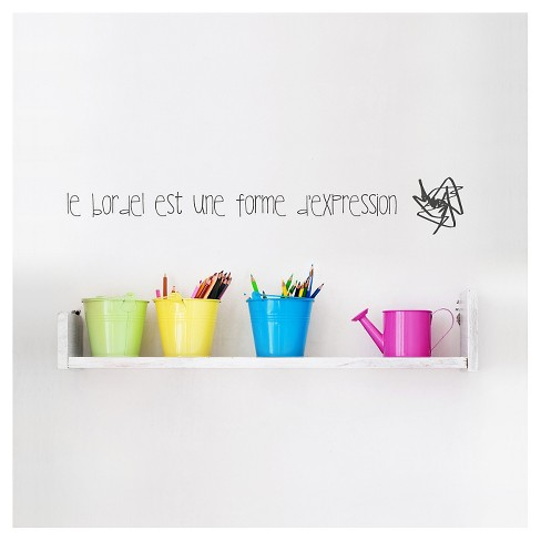 Le bordel Wall Decal - Charcoal - image 1 of 1