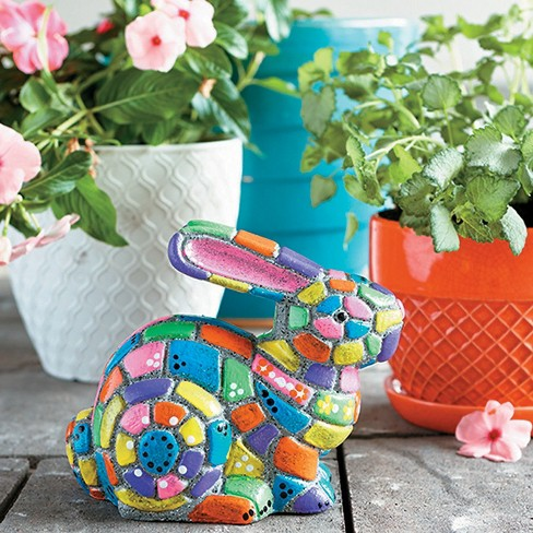 MindWare Paint Your Own Stone: Mosaic Bunny - Creative Activities - 4 Pieces - image 1 of 4